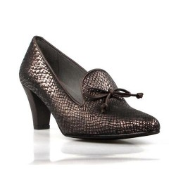 zapatos bronce con lazo .175