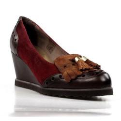 zapatos de cuña multi color . 15269
