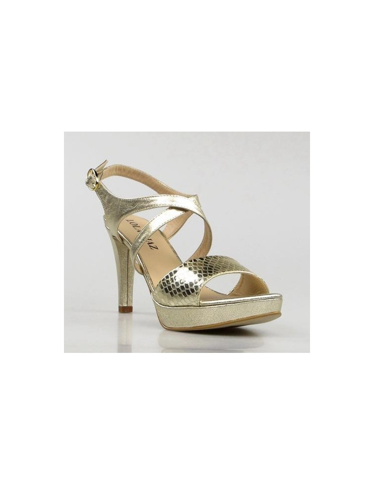 diseño atemporal 0b5c2 9e3a2 Beige Sandals: Sandalias De Fiesta Doradas