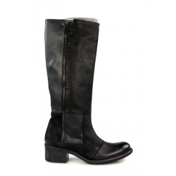 botas altas piel negra .r1