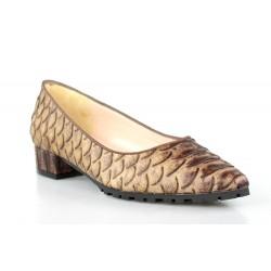 zapatos de puntera serpiente cuero .gr