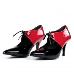 Zapatos puntera rojos y negros.1609