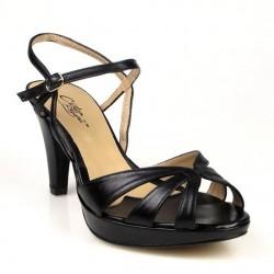 sandalias negras elegantes de vestir.2158