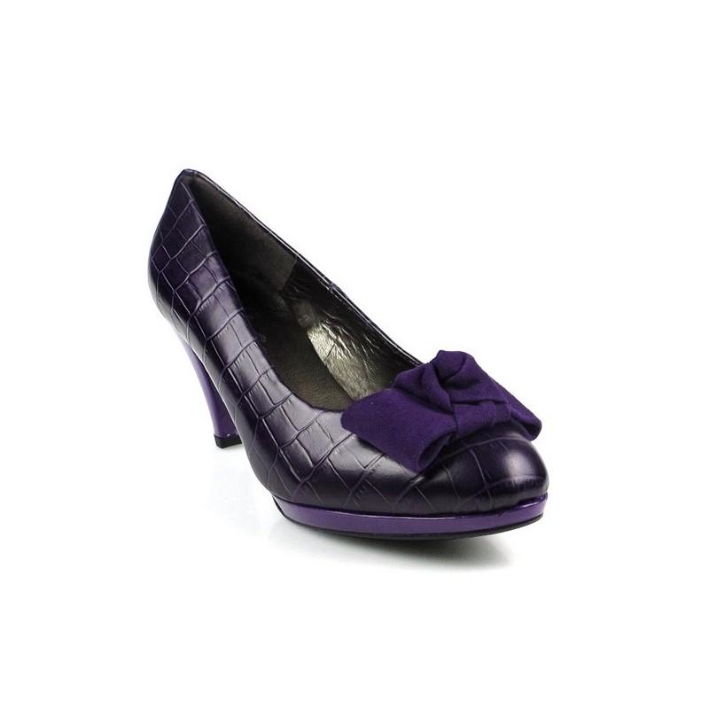 zapatos lila .7586l