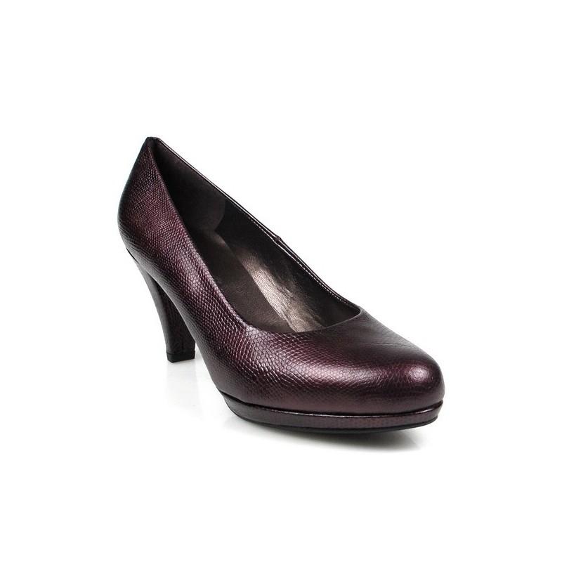 zapatos de vestir granates.7586