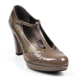 zapatos dorados de vestir .9057