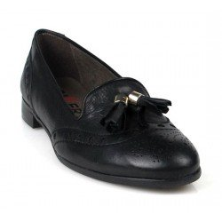 zapatos slippers negros.15013