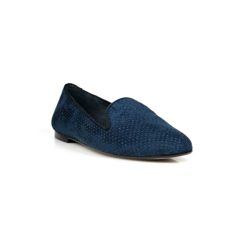 zapatos slippers azules
