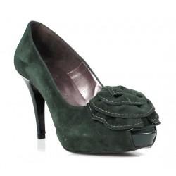 zapatos verdes de mujer