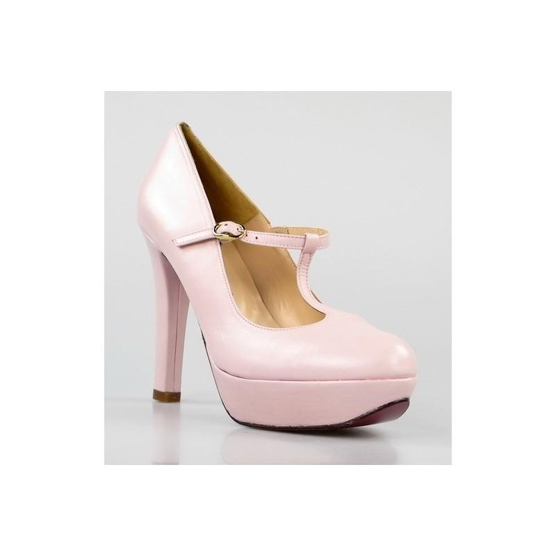zapatos rosas de tacón ,gr10