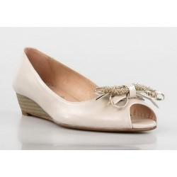 zapatos de cuña imitación madera .kp25