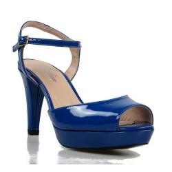 sandalias azules de charol 1357