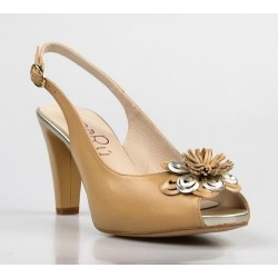 peep toe destalonado con flor central 65