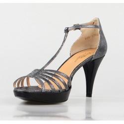 sandalia gris negra 325