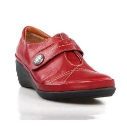 zapatos rojos con cuña .x308