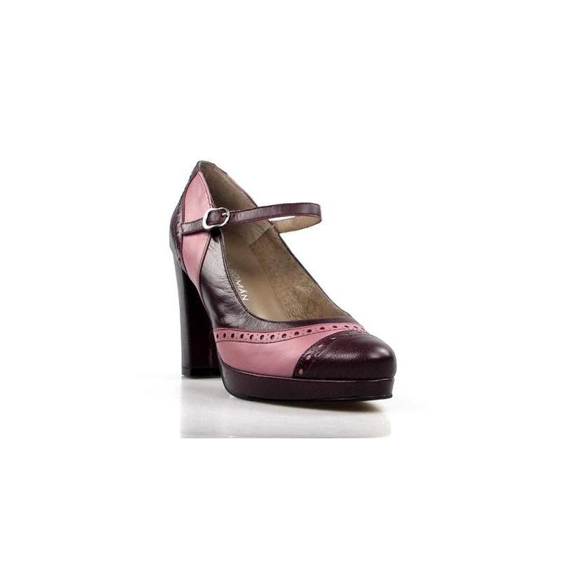 zapatos granates y rosa. 14134