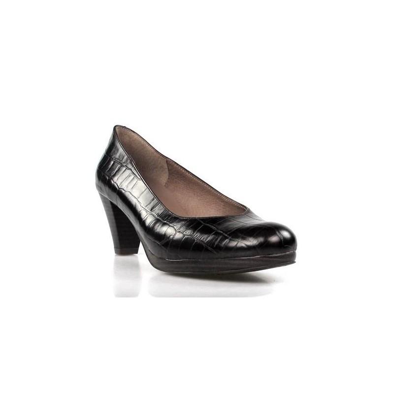 zapatos de salon marrones .1700