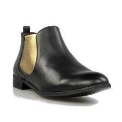 botines con elasticos dorados .8314
