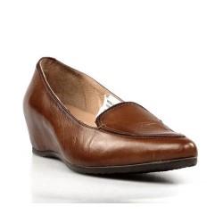 zapatos de cuña piel cuero.14a