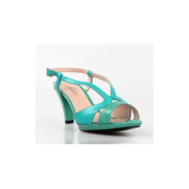 sandalias azul turquesa.1372