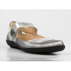 zapato plateado sport .ps12