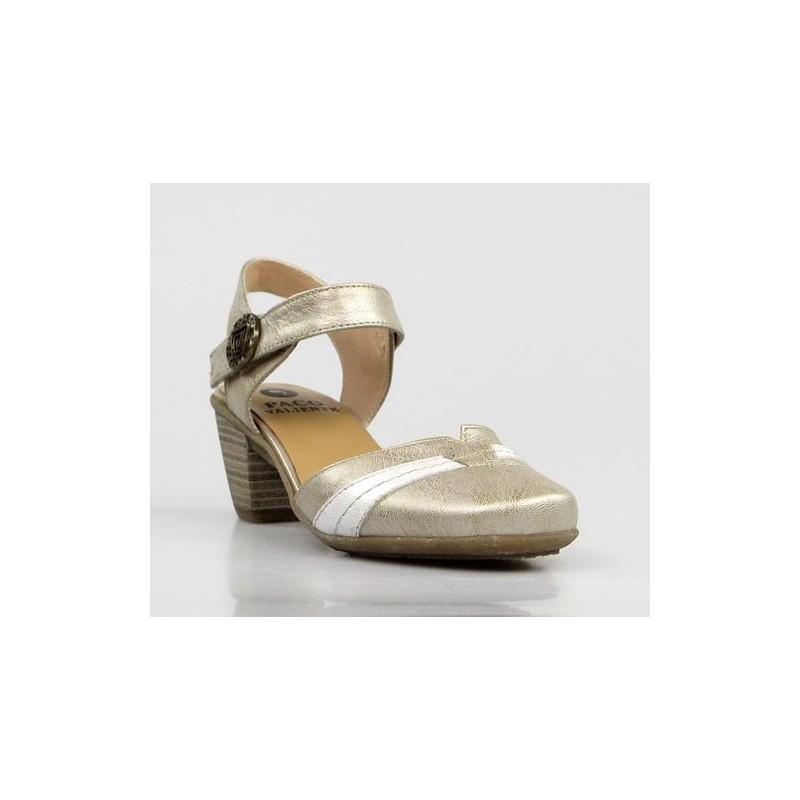 zapatos piel dorados destalonados .ps15