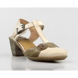 zapato beige y cuero .ps25