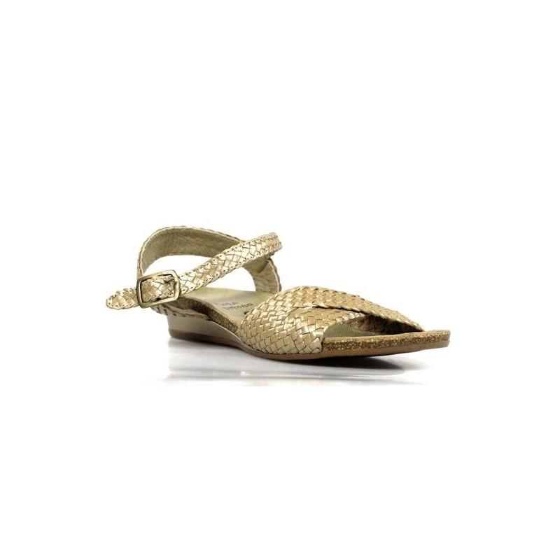 sandalias doradas trenzadas .ps29