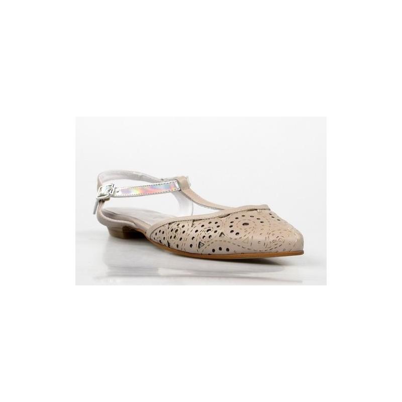 zapatos planos taupe .ka15