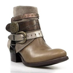 botines taupe camperos.9105