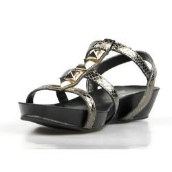 sandalia bio gris metal 504