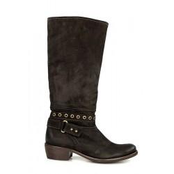 botas marrón oscuro .r6