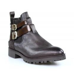 botines marrones estilo masculinos .a11