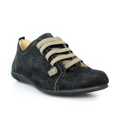 zapatos de cordones en serraje.1160