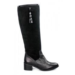 botas negras piel y ante bk9