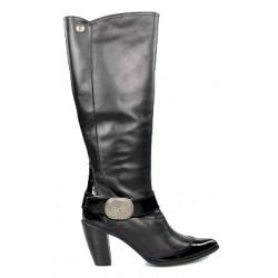 botas piel negra y charol. r9