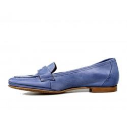 zapatos planos azules. x544