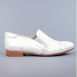 zapatos planos plateados .1502