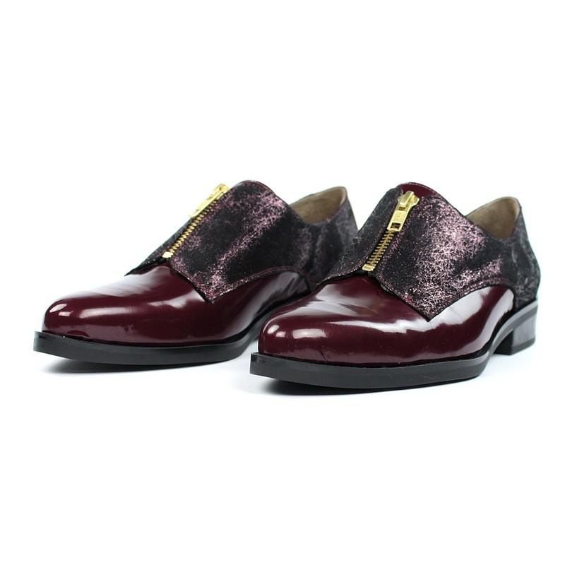 Zapatos masculinos para mujer granates .16185