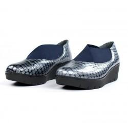 Zapatos de cuña con elásticos.5812