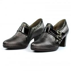Zapatos abotinados bronce.16542