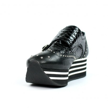 Zapatos negros platform.hz3