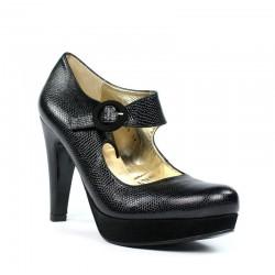 Zapatos de piel con tacón alto y plataforma .ps46