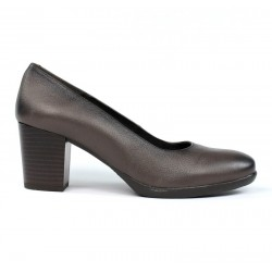 Zapatos de salón taupe .zk20