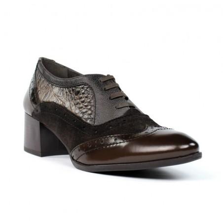 Zapatos blucher mujer marrones .zk25