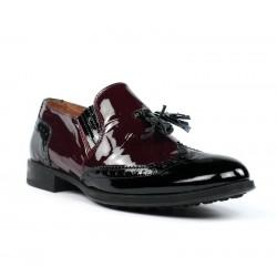 Zapatos burdeos y negros charol.ps49