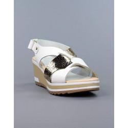 Sandalias blancas planta de gel cómoda .17365