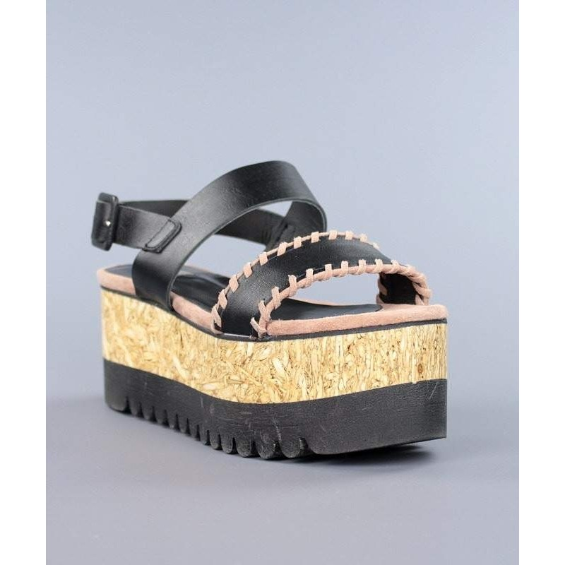 ca8126978a4 sandalias de mujer cuña madera
