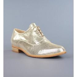 Zapatos blucher dorados .17lor