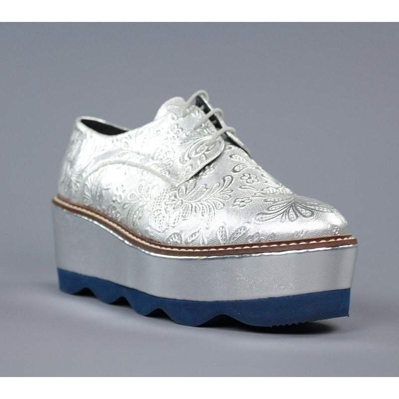 Zapatos blucher plata .el7